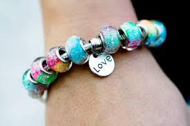 bracelet with beads images Rainbow 39 s bridge bracelet with 8 ash beads by oksana 159 00 jpg