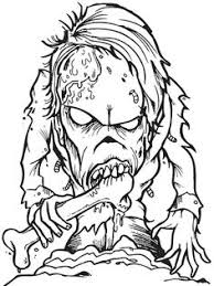 scary coloring pages adults advanced zombie image 1