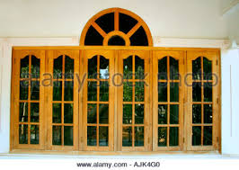 Kerala Style Home Window Design Glass Windows Of A Modern House Kerala Stock Photo Royalty Free