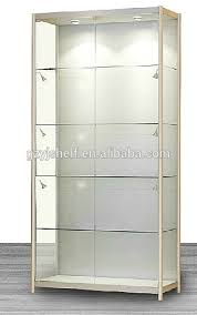 lockable glass display cabinet showcase high quality lockable counter countertop retail glass display