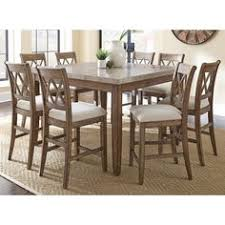 Grayish Brown Tanshire Counter Height Dining Room Table View - Tanshire counter height dining room table price