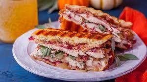 turkey cranberry dressing panini recipe genius kitchen