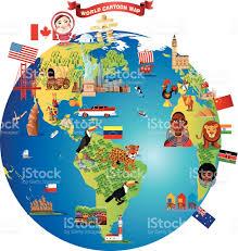 Amazon River On World Map by Cartoon Map Of World Stock Vector Art 521454775 Istock