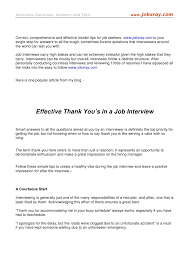 thank you letter after interview with multiple interviewers effective thank you u0027s in a job interview from www jobxray com