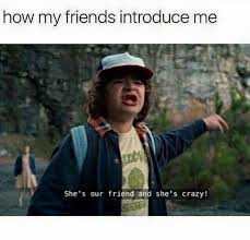 Crazy Friends Meme - probably you saying hi this is kaycee she s crazy true