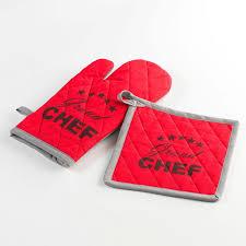 maniques cuisine gant de cuisine et manique coton chef etoile 20x20cm