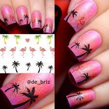 0 99 1 sheet hawaii palm tree nail art water decals flamingo