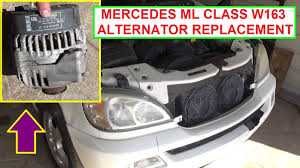 how to remove and replace the alternator on mercedes w163 ml320