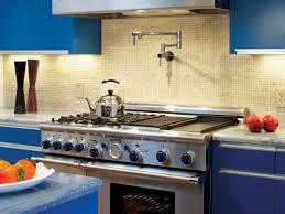 kitchen cabinet filler design blue solid minimalist kitchen cabinet chrome filler pot