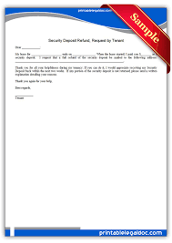 free printable security deposit refund request by tenant legal
