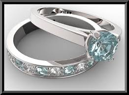 aquamarine wedding rings this one is my absolute favorite light blue aquamarine and