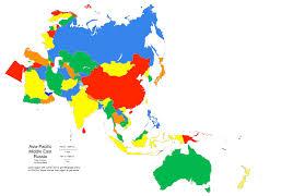 Middle East Asia Map by Asia Middle East Australia Oceania Graffletopia