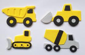 fondant cake topper construction truck