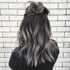 ambra hair color smokey gray ombre hair ideas popsugar beauty