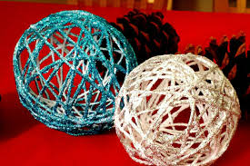 how to make yarn ornaments diy string ornaments