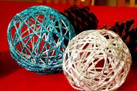 how to make yarn ornaments diy string ornaments