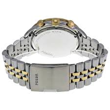 fossil silver bracelet images Fossil townsman chronograph silver dial two tone steel men 39 s watch jpg