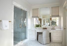 Bathroom Vanity Makeup Built In Makeup Vanity Ideas Transitional Bathroom Libby Regarding