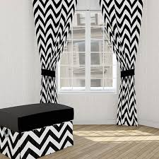 Black And White Curtain Designs Black And White Pattern Window Curtains Gopelling Net