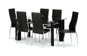 harveys black glass extending dining table hygena savannah black