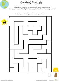 eco friendly maze saving energy worksheet education com