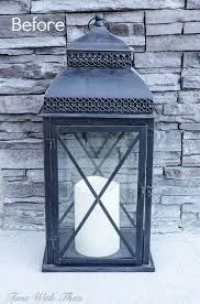 decorate an outdoor lantern for with these easy decor ideas