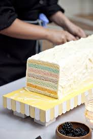 cake love funky wedding cake with multi coloured layers the