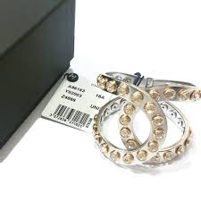 rhinestone cuff bracelet images Authentic chanel silver cc gold rim rhinestone studded large cuff jpg
