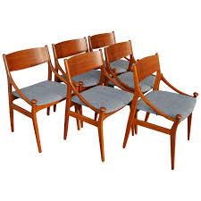 Art Deco Dining Room Table by Set Of Six Vestervig Eriksen For Brdr Tromborg Danish Modern