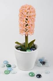 Decorative Flowers by Madeheart U003e Handmade Cold Porcelain Hyacinth Flower Designer