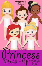 princess dress playdough mats totschooling toddler