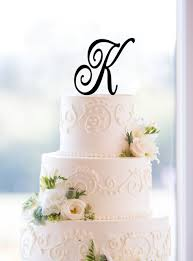 letter wedding cake toppers letter k acrylic wedding cake topper birthday cake topper for