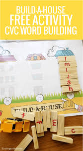 build a house onset and rime activity cvc word building