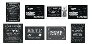 eat drink and be married invitations eat drink and be married wedding invitations fancy chalkboard