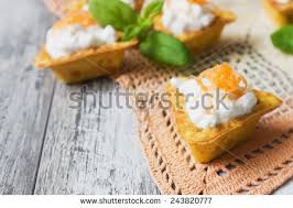 canape cottage canape cottage cheese grated carrot on stock photo 243820768