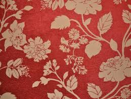Colourful Upholstery Fabric Floral Red And Stone Coloured Fabric For Curtains Upholstery