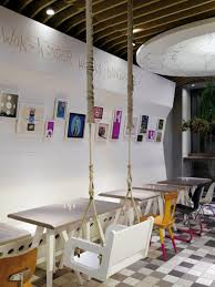 Restaurants Decor Ideas Simple Fast Food Restaurant Decorating Ideas With White Wooden