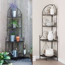 Cheap Bakers Rack Indoor Outdoor Corner Bakers Rack Folding Metal Plant Stand With