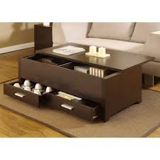 belham living coffee table storage ottoman with shelf chocolate in