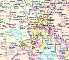 map rhode island massachusetts rhode island and connecticut