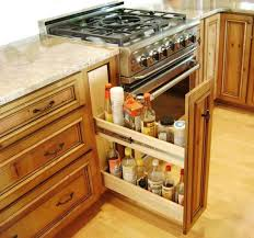 Pull Out Spice Rack Cabinet by Inimitable Small Kitchen Organization Solutions Of Base Cabinet