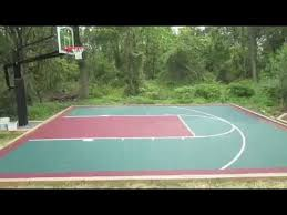 Backyard Basketball Hoops by Versacourt Installation Backyard Basketball Court Youtube