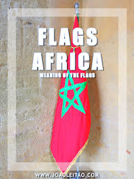 White Flag With Red Cross On Blue Square Flags Of Africa Meaning Of The African Country Flags