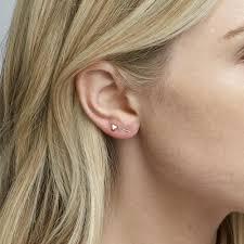 staple earrings mara carrizo scalise 14k yellow gold staple earrings iconery