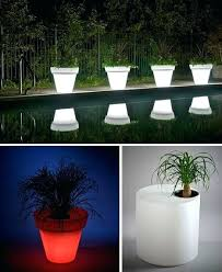 Patio Table Lights Lighted Patio Table Umbrella Glow In The Home Furniture