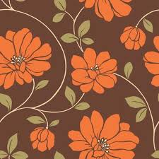 the wallpaper company 20 5 in w orange and brown large scale