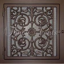 Decorative Return Air Grill Made Of Durable Steel Frames With Cast Iron Doors And Fretwork