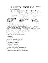 Sample Resume For Microbiologist by Resume Of Anh Q Nguyen Research Associate Biochemist In San Diego Ca U2026