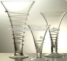 Glass Flower Vases Wholesale Deco Customized Hand Made Pyrex Clear Glass Flower Vases Wholesale