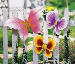 garden butterfly outdoor fence decor collectionsetc com